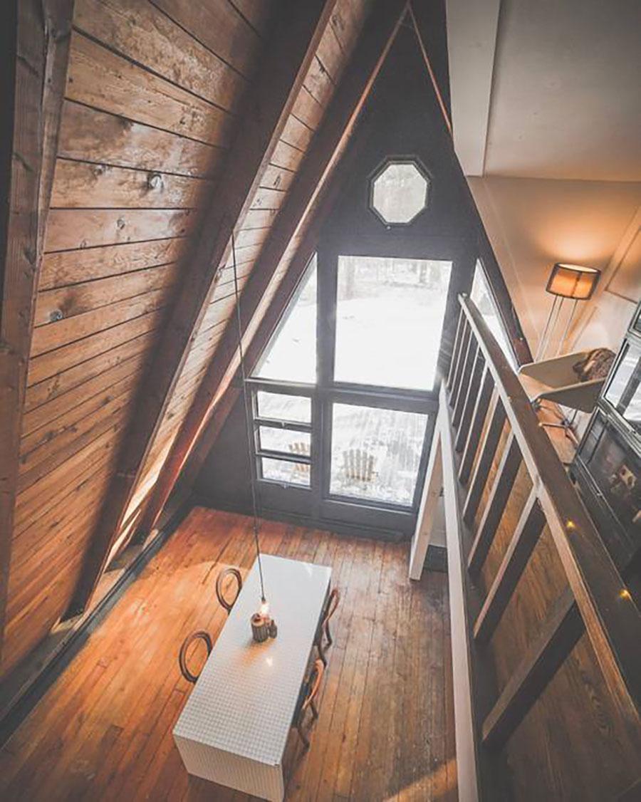 Off grid A-frame cabin
