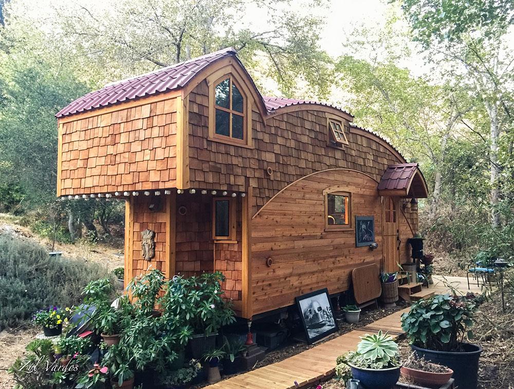 Moon dragon tiny house
