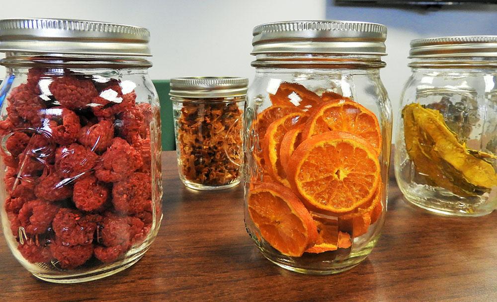 Drying homegrown veggies