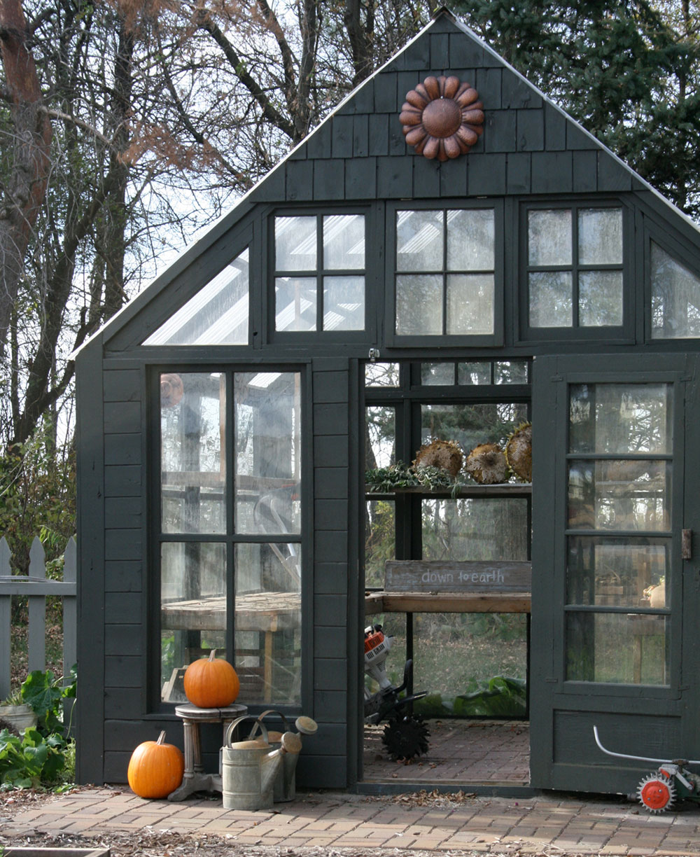 Greenhouse made with recycled materials