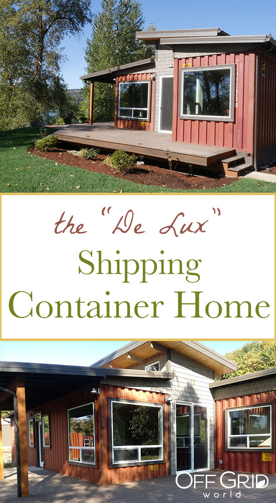 deluxe shipping container home