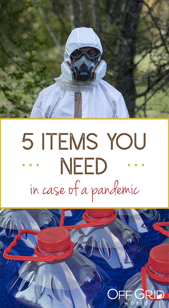 Items you need in case of pandemic