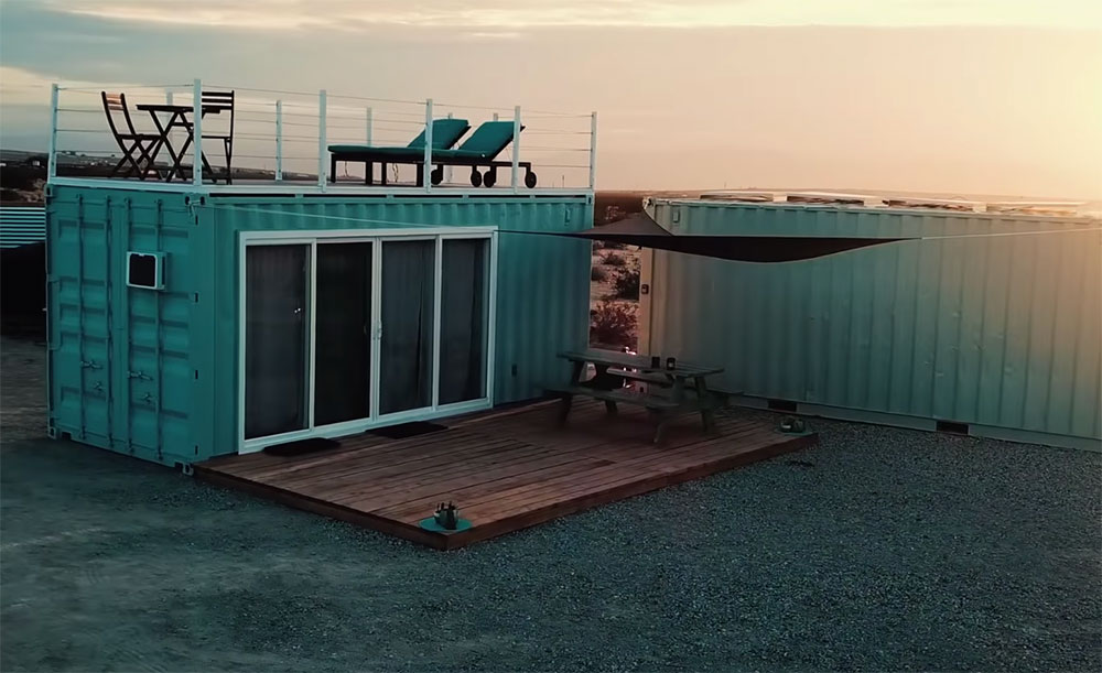 Off Grid Shipping Container Home In California