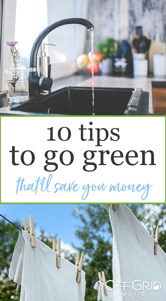 Tips to go green
