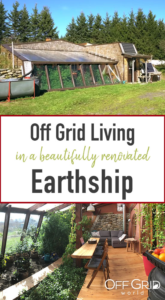 Off grid earthship
