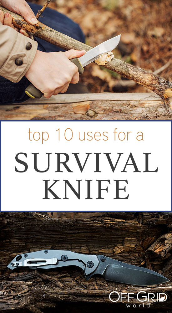 Uses for a survival knife