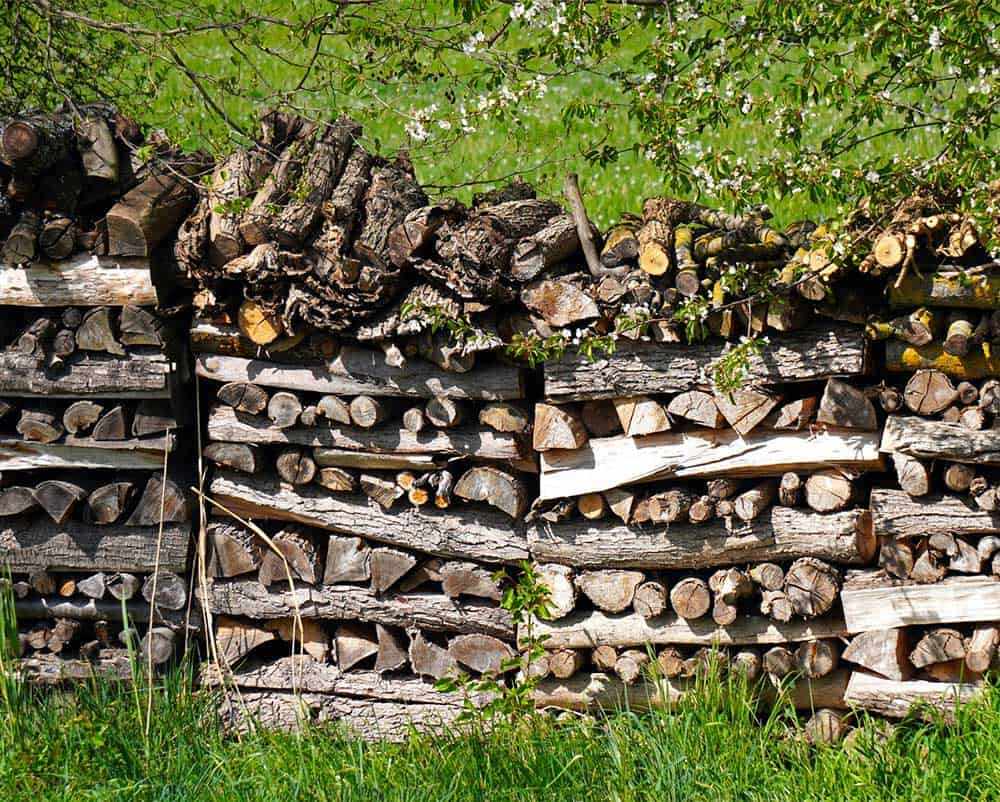 Firewood for heating
