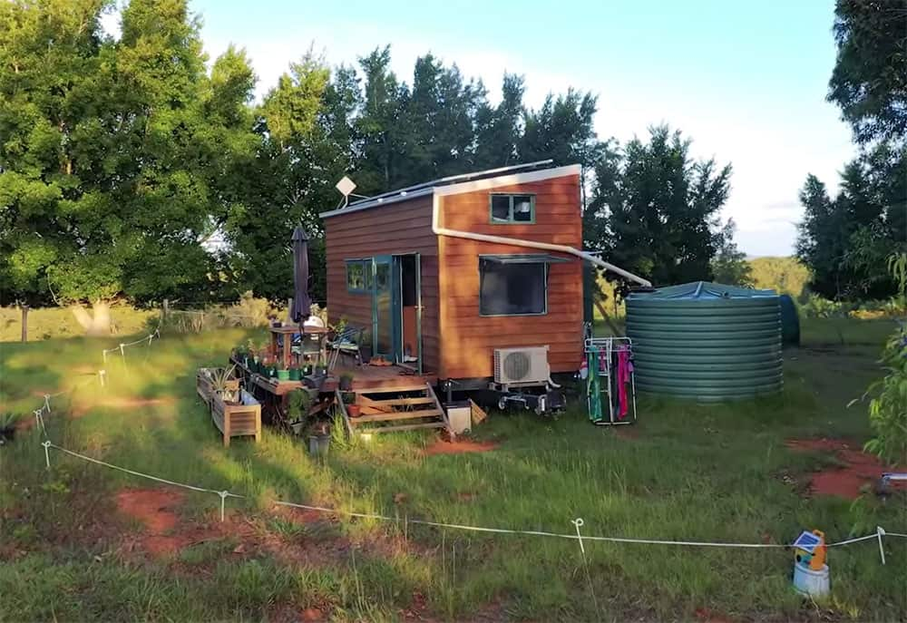 Off grid tiny house rainwater collection