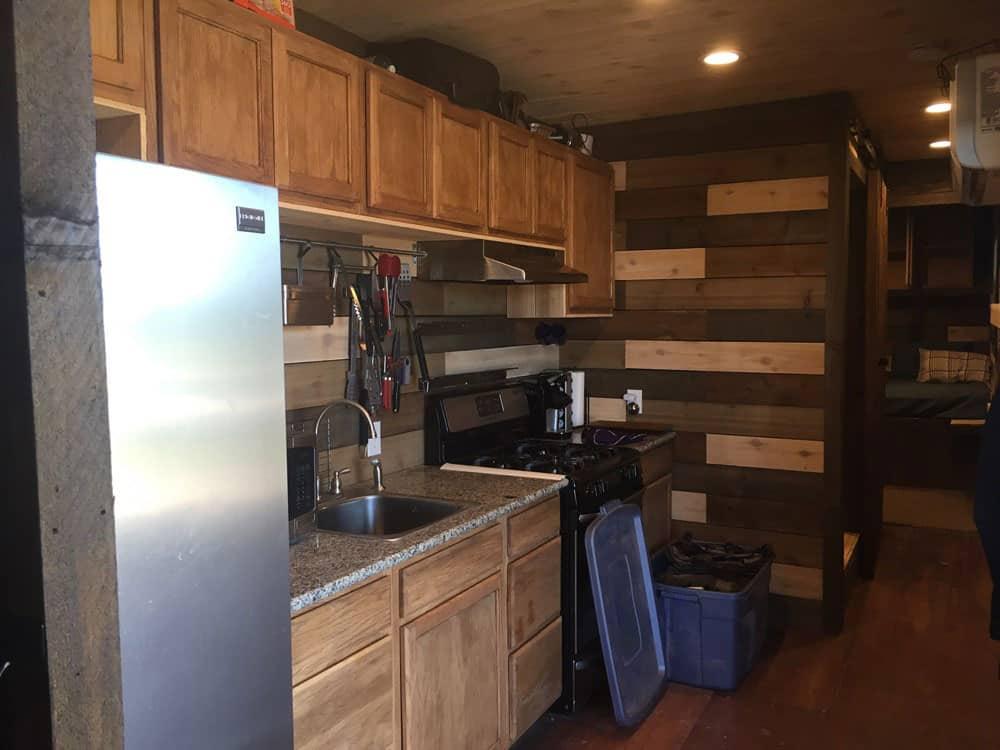 Shipping container bunk house