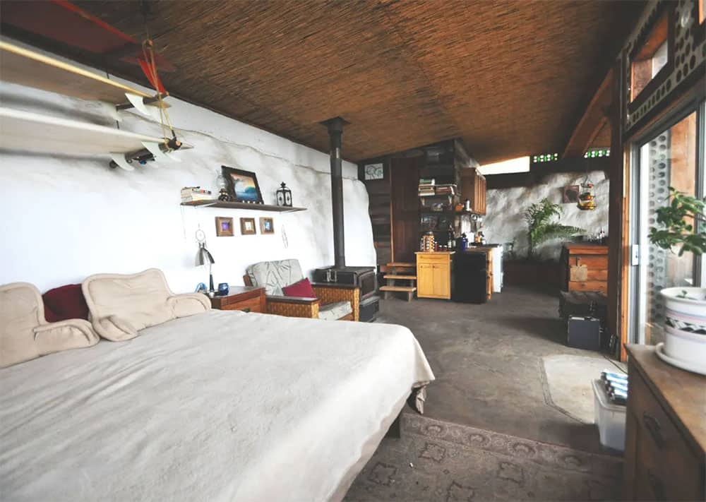 Earthship bedroom