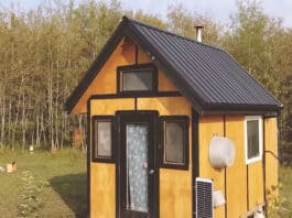 Off grid tiny cabin