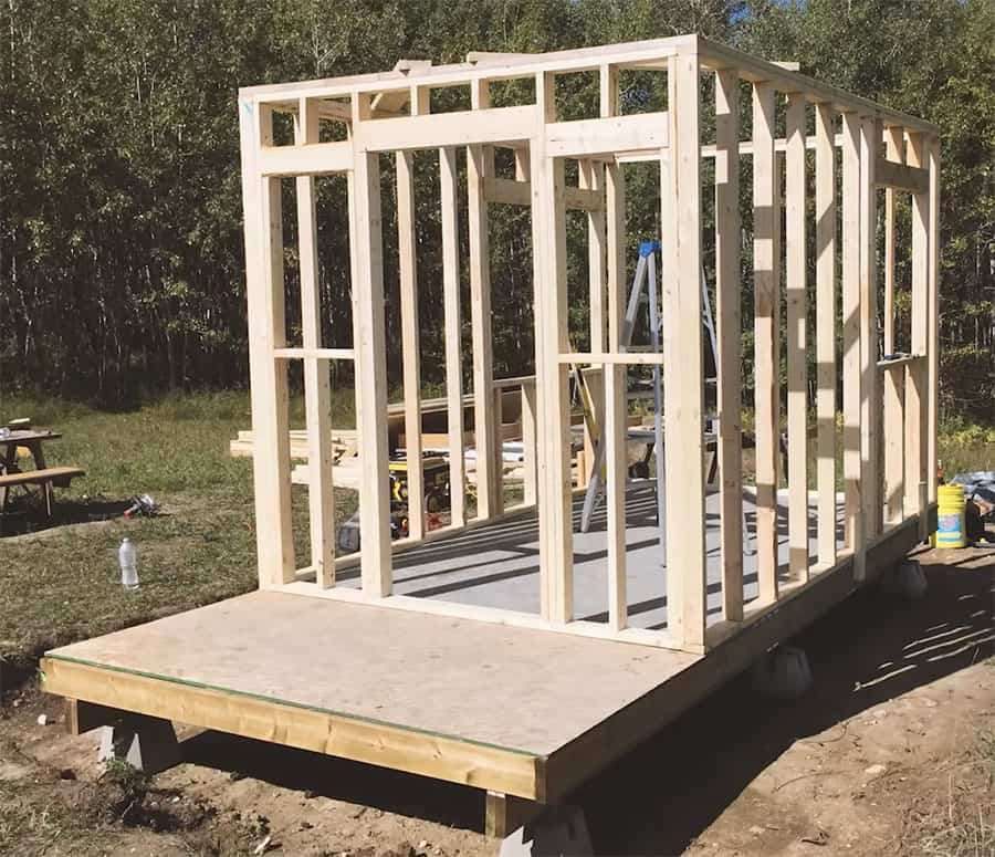 Building a tiny cabin