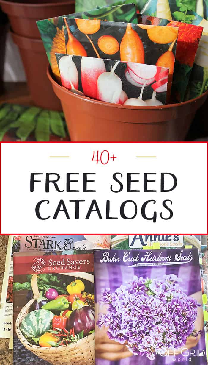 40 free seed catalogs