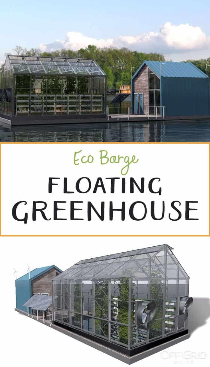 Eco Barge floating greenhouse