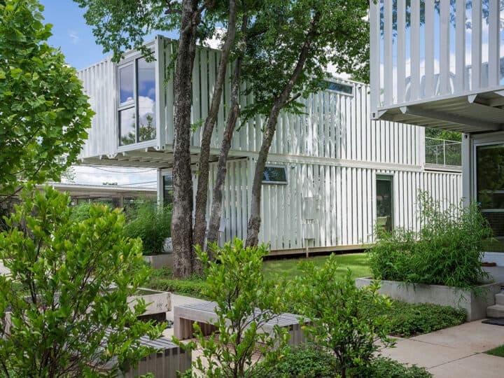 Shipping Containers Become Housing Units in Oklahoma City