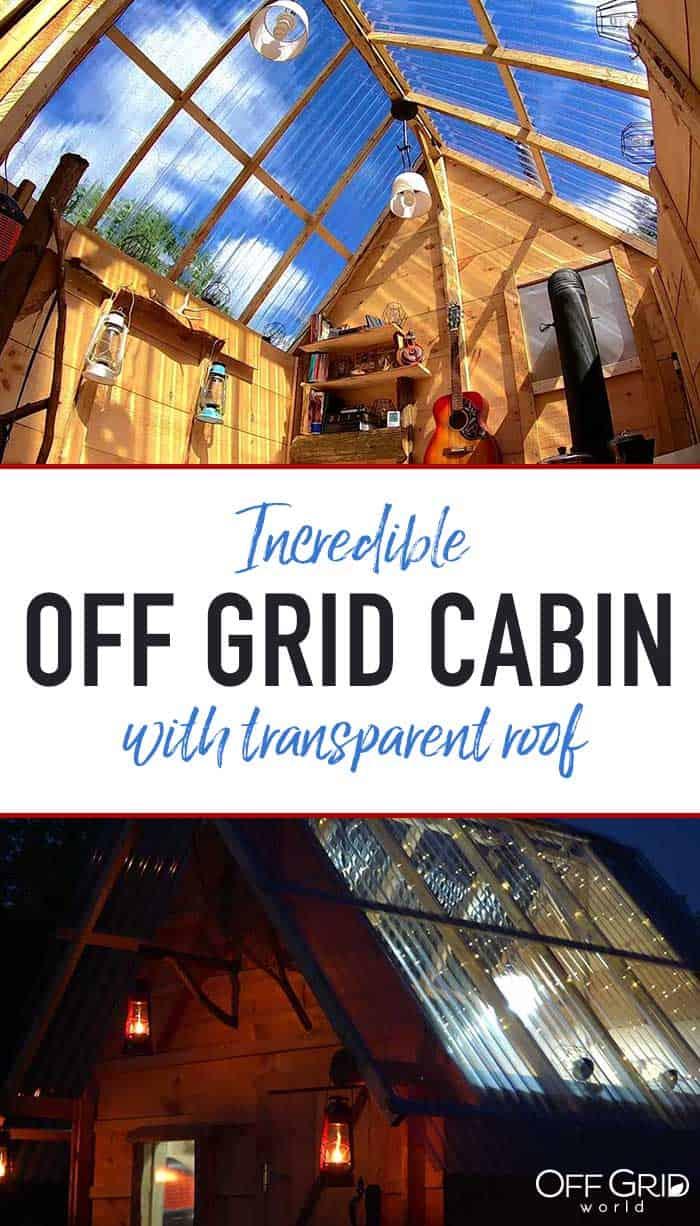 Transparent roof cabin